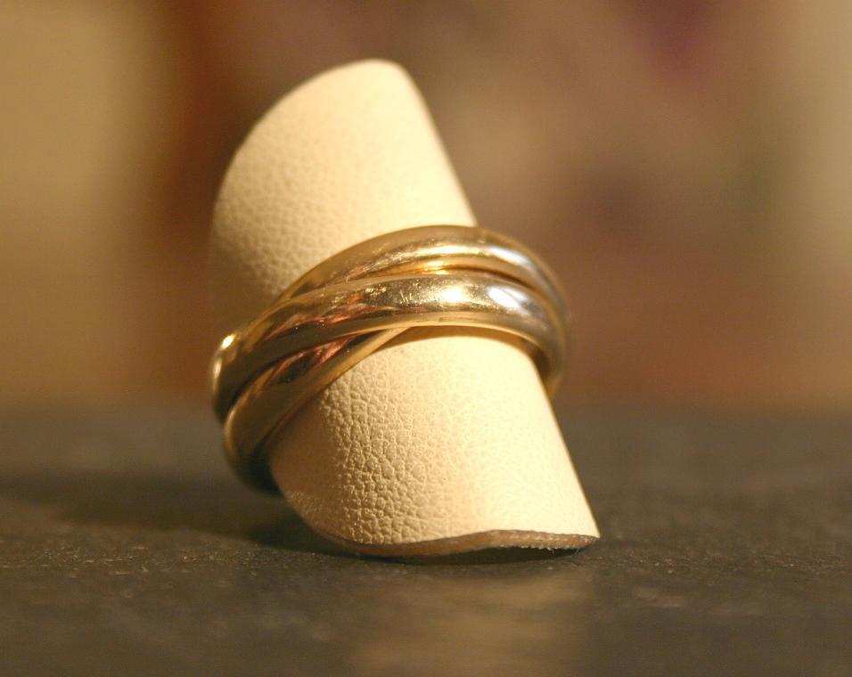 alliance triple - bijouterie saint brieuc - reparation bijoux saint brieuc